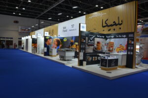 Belgium Pavilion at Gulfood 2021 exhibition, UAE, Dubai, The pavilion is constructed by Expoglobal Group.